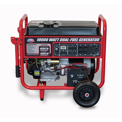 APGG10000GL - 10000W Watt Dual Fuel Generator w/ Electric Start, Portable Gas/Propane Generators, EPA Certified